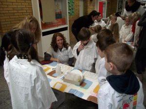 Mit Experimenten erarbeiten die Schüler wissenschaftliche Fragestellungen.